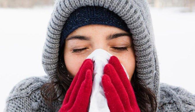 maladies de l'hiver femme malade