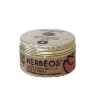Crème hydratante à la rose de damas